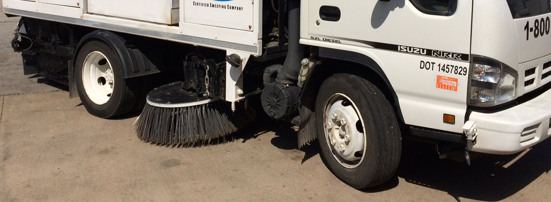 Street Sweeper with Brushes | Katsam Property Services